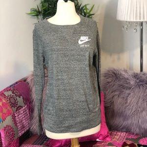 NIKE heather grey long sleeve shirt